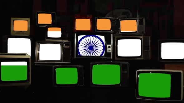 Thumbnail for Flag of India and Vintage Televisions.