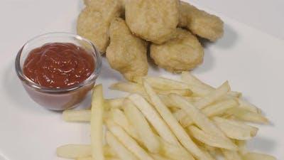 Nuggets, Fries and Ketchup