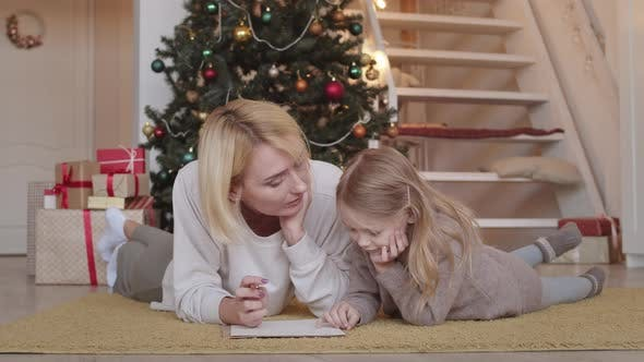 Thumbnail for Daughter and Mother Talking on X-mas