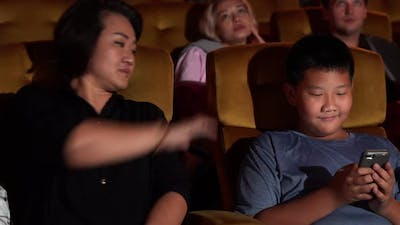 Audience Applauding and Enjoy at the End of Movie