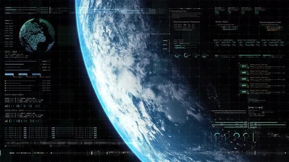 Futuristic Holographic Earth Head Up Display 04