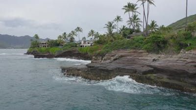Rocky Coast In Hawaii