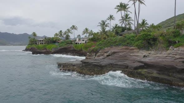 Rocky Coast In Hawaii