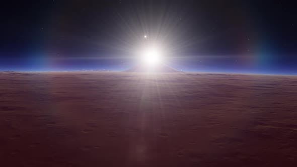 Space Animation Featuring Exoplanet