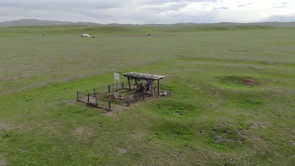 Historical Monument in Central Asia Steppes