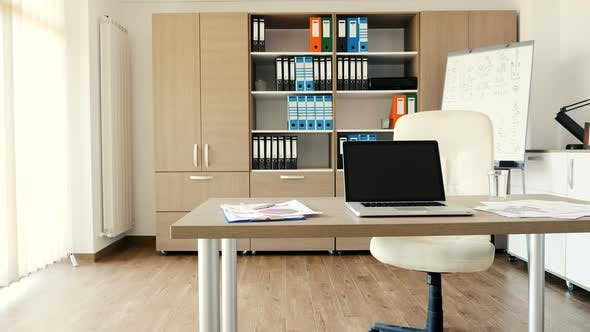 Thumbnail for Modern Office with a Desk in the Middle