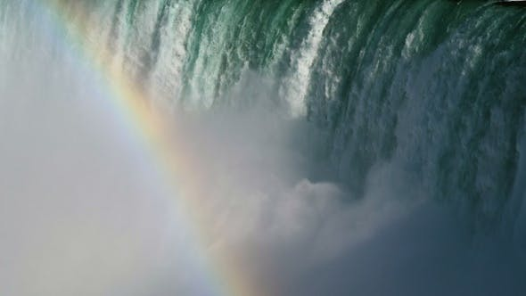 Thumbnail for Colorful Rainbow in Waterfall Mist