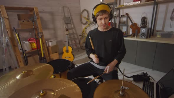 Thumbnail for Man Playing Drums Slowmo