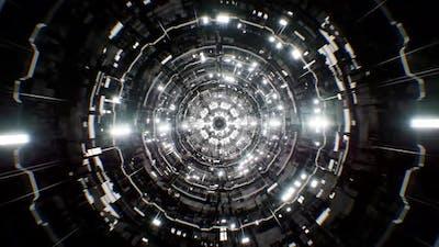 Scifi Silver Background Tunnel 4K