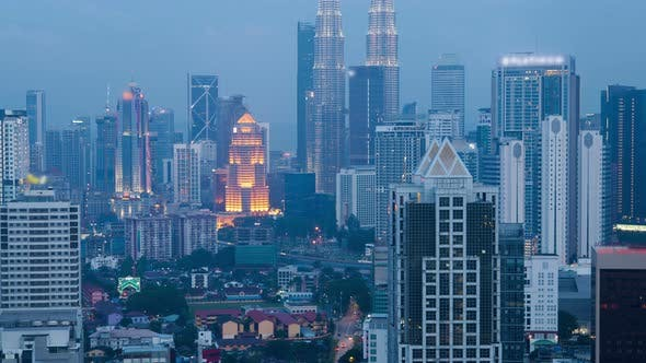 Thumbnail for Skyline  at Day To Night in Kuala Lumpur City Center