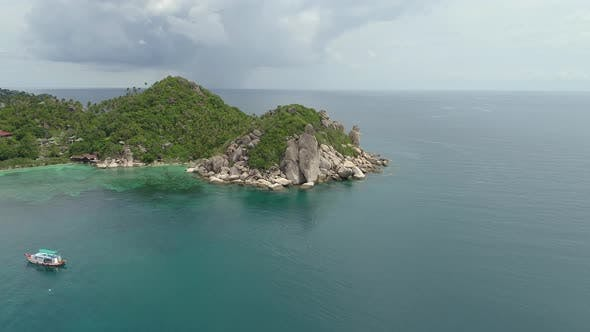 Thumbnail for Aerial View on Coral Lagoon in Sea