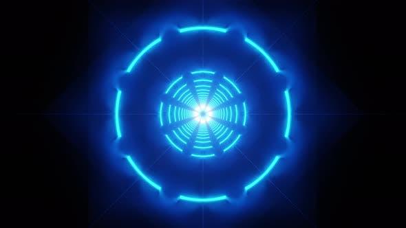 Neon Circles Background 4K