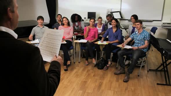 Thumbnail for Music classroom with teacher