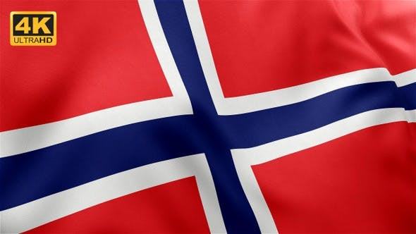 Thumbnail for Flag of Norway - 4K