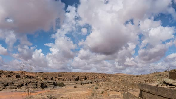 Cover Image for Panoramic View of Clouds Sky over Desert Rocky Nature Landscape