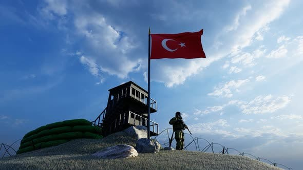 Thumbnail for Keeping guard soldier guarding the border in Turkey