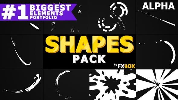 Formes dynamiques dessinées à la main   Graphiques animés Pack