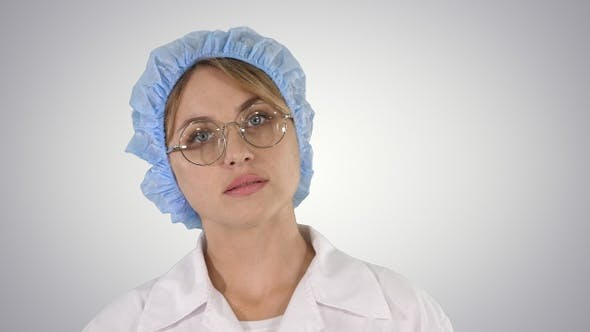 Thumbnail for Medical doctor woman going on gradient background