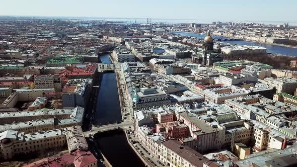 Thumbnail for Top View Of Old Town Standing On River