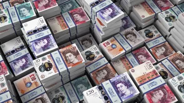 Money Bills Sterlings Banknotes