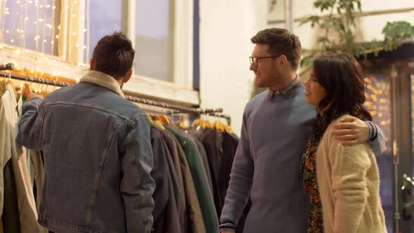 Thumbnail for Friends Choosing Clothes at Vintage Clothing Store 13