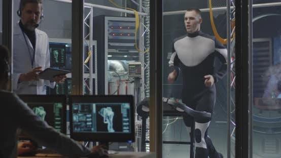 Thumbnail for Astronaut Walking on Treadmill