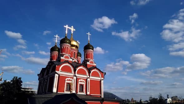 Thumbnail for Old Christian Orthodox Church on the Background of Clouds