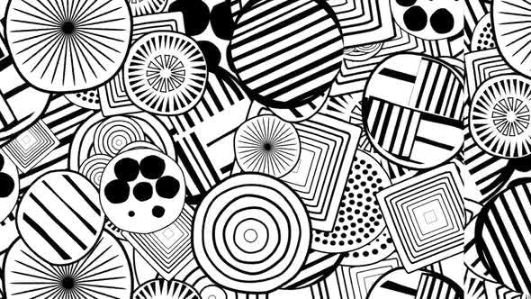 Black & White Doodle Hypnotize