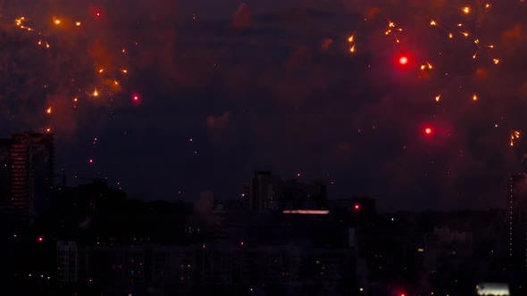 Thumbnail for Beautiful Firework at Evening Sky