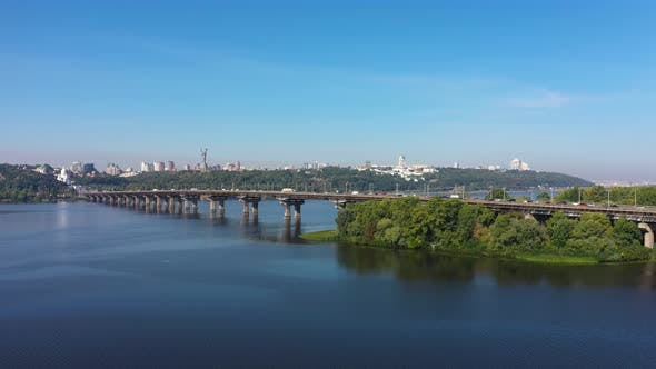 Heavy City Traffic on the Bridge