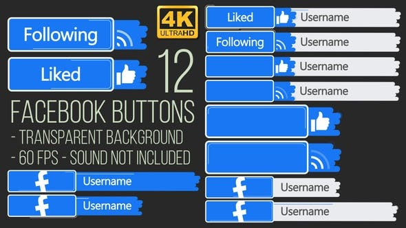 Thumbnail for Facebook Buttons 4K