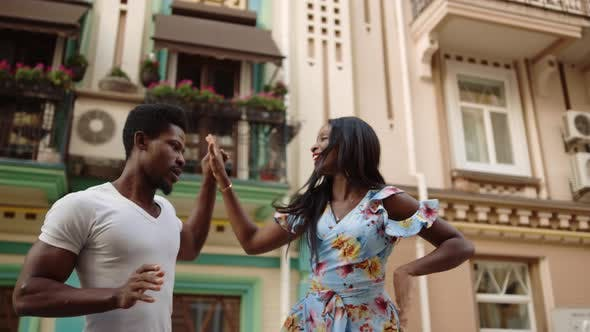 Thumbnail for Afro Couple Dancing Street