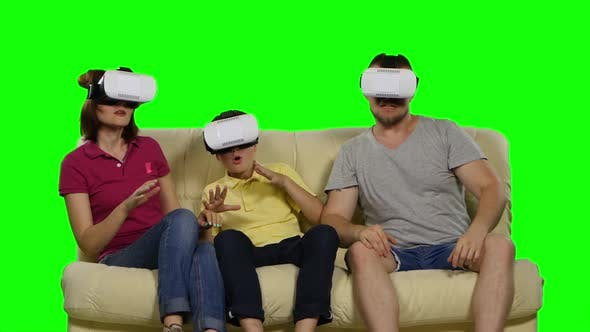 Virtual Reality. Green Screen