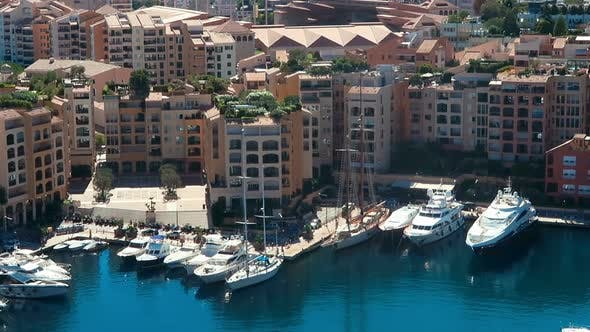 Thumbnail for Aerial View Skyline Monaco Luxury Yachts