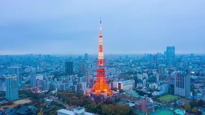 Tokyo Tower And Building In Tokyo City