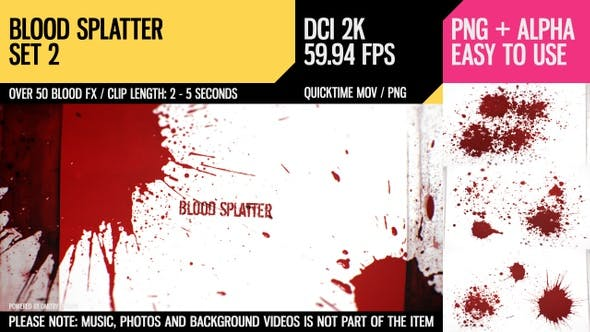 Thumbnail for Blood Splatter (HD Set 2)