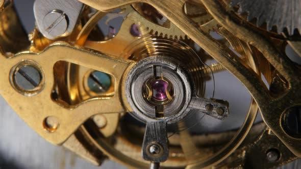 Thumbnail for Watch Mechanism. Gears Mechanical Clock. Close Up