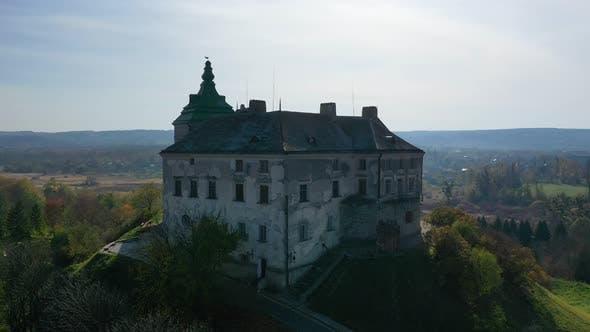Thumbnail for Aerial View of Haunted Castle of Olesko, Ukraine