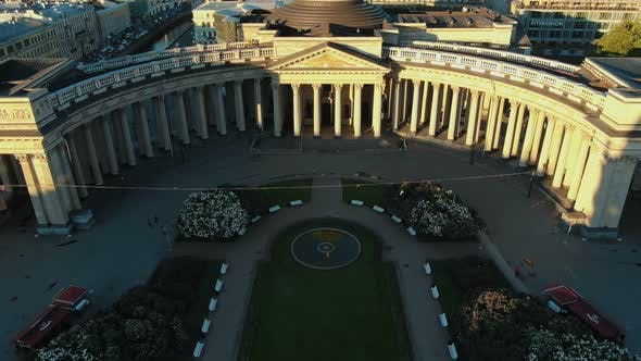 breathtaking Kazan Cathedral building with huge columns