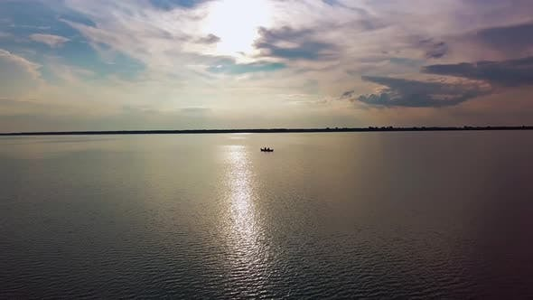 Thumbnail for Aerial Drone Footage of Lake Against Sky