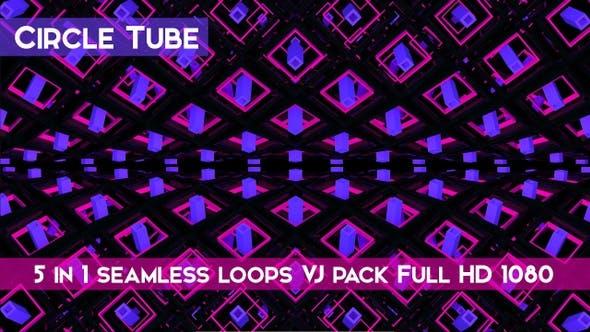 Circle Tube VJ Loops