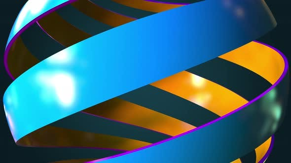 Thumbnail for Blue and Orange Abstract Spiral Globe