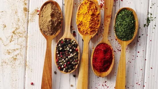Thumbnail for Spoons with Colorful Mix of Spices