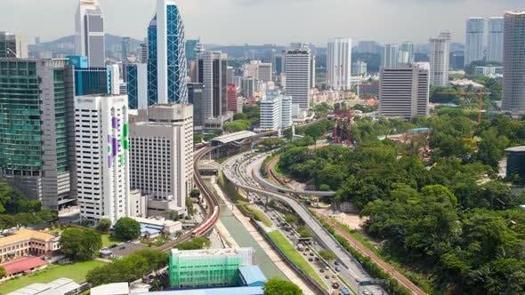 Thumbnail for Skyline  Day Traffic of Kuala Lumpur