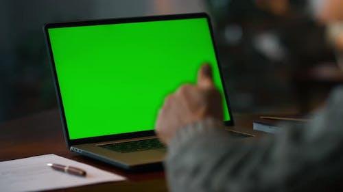 Chroma Key Computer Closeup