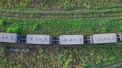 Flying Drone of Railroad Tracks