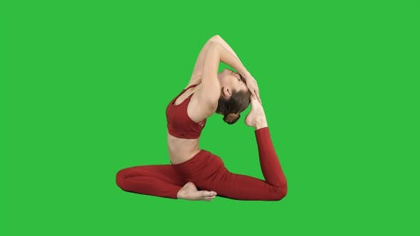 Thumbnail for Beautiful Young Womandoing Yoga or Pilates Exercise One