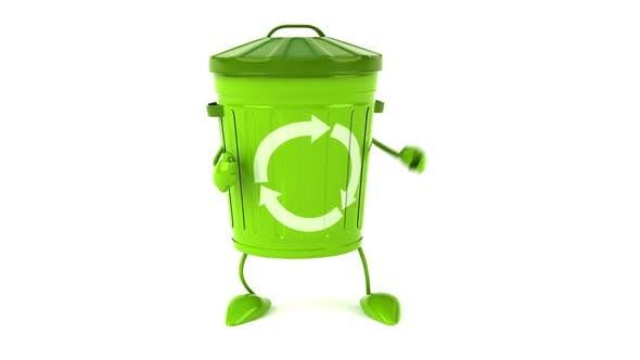 Thumbnail for Fun green trash character