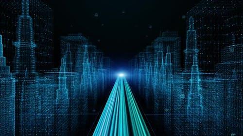 Digital City Digital Data Network Connections 843