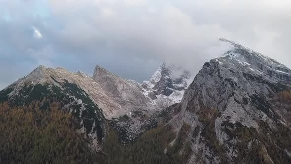 Time Lapse Flight Over of Watzmann and Hochkalter Mountains, Berchtesgaden, Germany